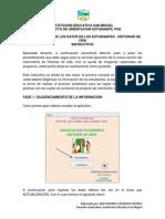 MANUAL ACTUALIZACIÓN HISTORIAS DE VIDA I.E. SAN MIGUEL