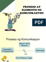 Elemento at Proseso Ng Komunikasyon