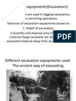 Excavation Equipments
