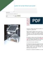 Estructura y Seguidor de Luz Tipo Girasol Para Panel Solar