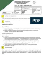 Programa de Matematica Intermedia III Enero 2014