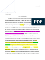 final reflection essay revision strategy