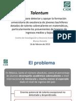 BHeredia CIDE Talentum PresentaciónGral 16feb14