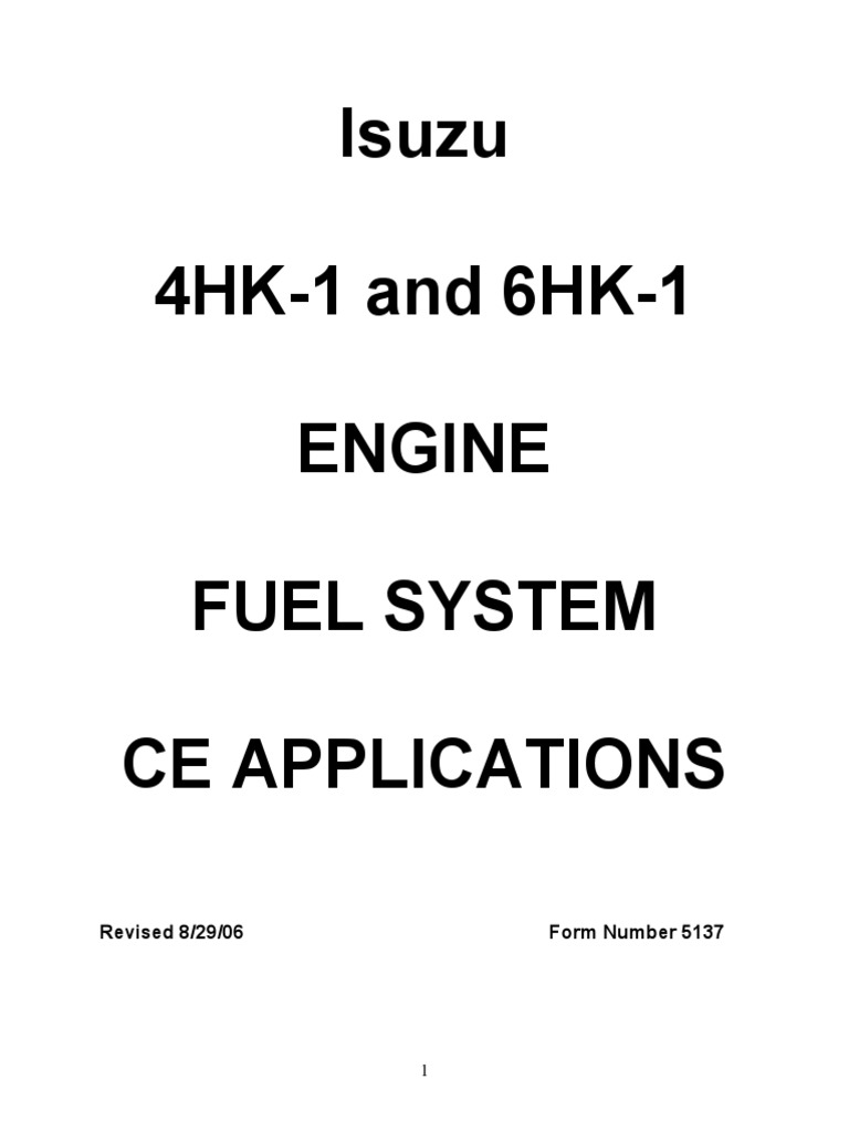 Isuzu_6HK-1_Engine_Fuel_System_-_CE_Applications_Rep