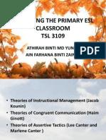 Managing the Primary Esl Classroom