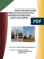 PROYECTO ELECTRIFICACION DE LOS PUEBLOS MAS ALEJADOS DE PADRE ABAD