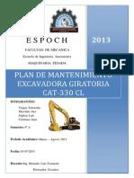 MAQUINARIA PESADA Plan de Mantenimiento Excavadora Giratoria