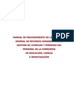 Manual de Licencias y Permisos