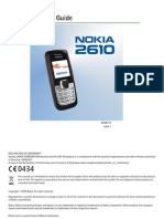 Nokia 2610 User Guide
