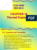 Chapter 10-Thermal Expansion