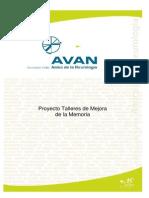 Avan Associacio Valles Amics de La Neurologia Talleres de Mejora de La Memoria