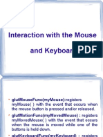 Open Gl Mouse and keyboard Fuctions and explaination
