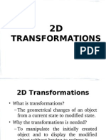 2 Dimensional Transformations