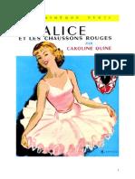 Caroline Quine Alice Roy 32 BV Alice Et Les Chaussons Rouges 1954