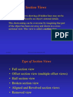 Section and Auxiliary Views