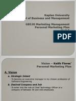 GB530 Personal Marketing Plan 1318405794