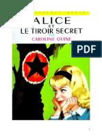 Caroline Quine Alice Roy 33 BV Alice Et Le Tiroir Secret 1955