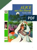 Caroline Quine Alice Roy 36 BV Alice aux Iles Hawaï 1959
