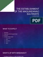 The Establishment of the Maguindanao Sultanate