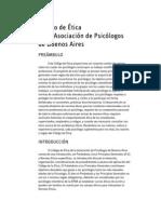Código de Etica de la Asociación de Psicologos de Buenos Aires