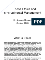 Business Ethics and Environmental Management