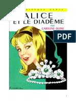Caroline Quine Alice Roy 42 BV Alice et le diadème 1965