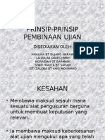 Prinsip-prinsip Pembinaan Ujian