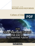 155 Some 'Interesting Factors' That Lead to 'Al Yauwmil Aakhir' (The Day of Judgment or the Final Day)