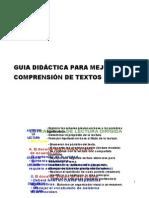 GUIA DIDÁCTICA PARA MEJORAR LA COMPRENSIÓN DE TEXTOS
