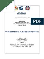 Waj3103 English Language Proficiency Ll