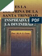 ES LA DOCTRINA DE LA SANTA TRINIDAD INSPIRADA POR LA DIVINIDAD ?