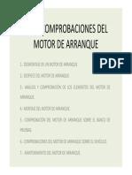 7. Comprobaciones Del Motor de Arranque