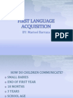 First Language Acquisition Chapter 2