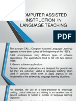 f  computer assisted instruction in lang teaching