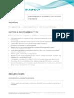 TIC Engineer -Position Description NOV 2012