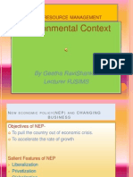 Environmental Context of HRM