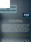 o  teaching strategies and instructional games-