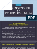 x  teaching english by tv broadcast media