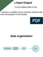 File Input Output