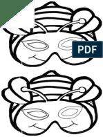 Topeng Lebah Outline