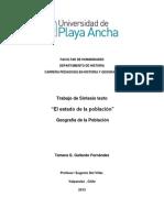 Sintesis Geografia de La Poblacion