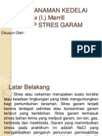 RESPON TANAMAN KEDELAI Glycine Max (I) Presentation Klmpok 5