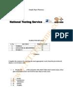 NTS GAT Test Sample Paper of Pharmacy