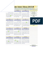 Kalender Islam Ummulqura 2013