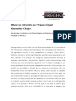 Discurso de Miguel Ángel Granados Chapa - Homenaje LMI