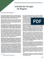 La Sociedad de Cirugía de Bogotá. P. 59-63