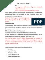 Contract Act 1872 Pakistan