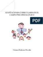 Adaptaciones Curriculares en El Campo Psicopedag Gico