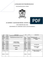 Academic Calender2012-2013 EVEN Sem - ECEW