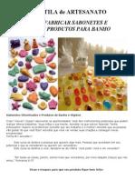 APOSTILA de ARTESANATO - COMO FABRICAR SABONETES E OUTROS PRODUTOS PARA BANHO.doc